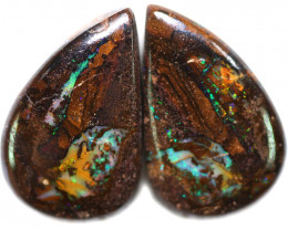 37.08 CTS WELL POLISHED PAIR BOULDER STONES [BMA9151]