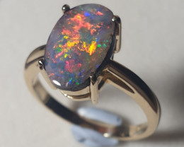 Boulder Opal 14k Gold Custom Ring 2