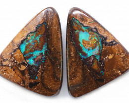 19.78 CTS WELL POLISHED PAIR BOULDER STONES [BMA9164]