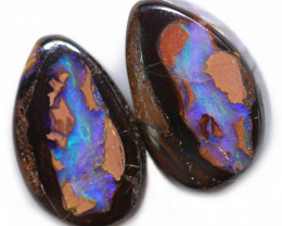 26.61 CTS WELL POLISHED PAIR BOULDER STONES [BMA9165]6