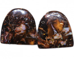 35.20 CTS WELL POLISHED PAIR BOULDER STONES [BMA9177]