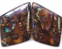 31.49 CTS WELL POLISHED PAIR BOULDER STONES [BMA9171]