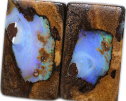 53.81 CTS BOULDER PAIR-WELL POLISHED  [BMA9191]