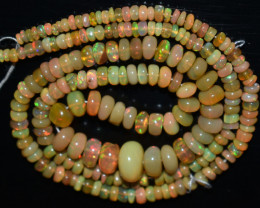 45.00 Ct Natural Ethiopian Welo Opal Beads Play Of Color OB814