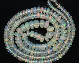 37.10 Ct Natural Ethiopian Welo Opal Beads Play Of Color OB806