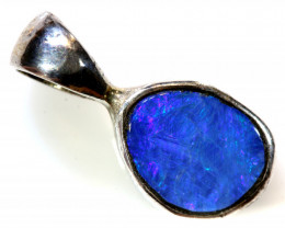 5.0 CTS   DOUBLET OPAL SILVER PENDANT OF-411