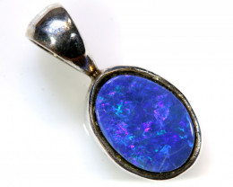 6.0 CTS DOUBLET OPAL SILVER PENDANT   OF-413