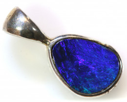 6.0  CTS  DOUBLET OPAL SILVER PENDANT    OF-415