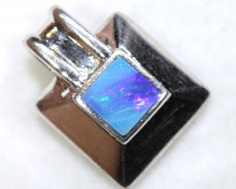 7.5 CTS INLAY OPAL SILVER PENDANT   OF-432