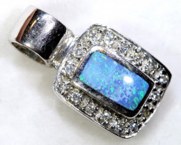 6.5 CTS  STYLISH OPAL SILVER INLAY PENDANT  OF-440