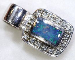 7.0  CTS   OPAL SILVER INLAY  PENDANT  OF-444