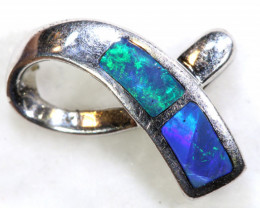 3.6 CTS  OPAL SILVER INLAY  PENDANT  OF-450