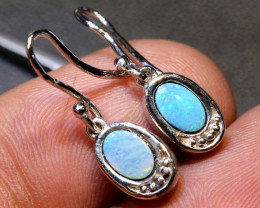 11.0 CTS OPAL SILVER INLAY EARRINGS   OF-454