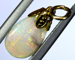 1.9 CTS OPAL PENDANT WITH SILVER METAL AND GOLD PLATING  OF-498