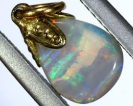 1.6 CTS  OPAL PENDANT WITH SILVER METAL AND GOLD PLATING   OF-499