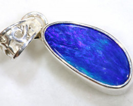 7.5 CTS   DOUBLET OPAL SILVER PENDANT   OF-487