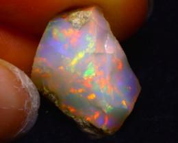 7.88Ct Multi Color Play Ethiopian Welo Opal Rough F0919