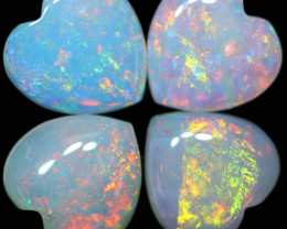 3.16 CTS CRYSTAL OPAL TWO PAIRS HEART SHAPED [SEDA2767]