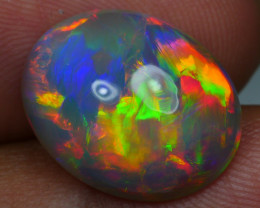 5.25 CRT AWESOME 5/5 FULL COLOR FIREWORKS PATTERN DARK BASE WELO OPAL