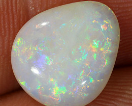 2.65ct 11x9.5mm Solid Coober Pedy White Opal [LO-1937]
