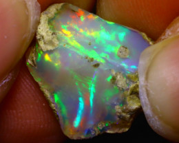 8.06Ct Multi Color Play Ethiopian Welo Opal Rough F1102