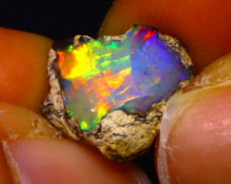 4.66Ct Multi Color Play Ethiopian Welo Opal Rough F1108