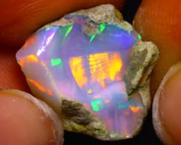 7.19Ct Multi Color Play Ethiopian Welo Opal Rough F1111