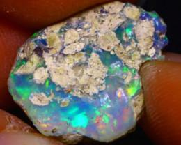 8.38Ct Multi Color Play Ethiopian Welo Opal Rough F1112