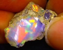 9.87Ct Multi Color Play Ethiopian Welo Opal Rough F1117