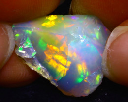 11.69Ct Multi Color Play Ethiopian Welo Opal Rough F1120
