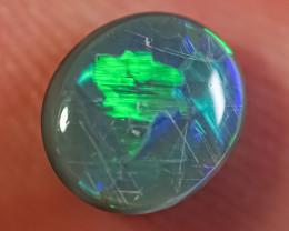 1.02ct SOLID DARK OPAL LIGHTNING RIDGE GEM $1 N/R AUCTION SBCA091219