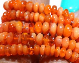 45.70 CTS -MEXICAN  FIRE OPAL BEADS STRAND FOB-2053