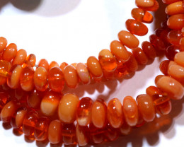 45.40 CTS -MEXICAN  FIRE OPAL BEADS STRAND FOB-2054