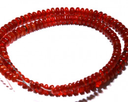 37.80 CTS -MEXICAN  FIRE OPAL CHEERY RED  BEADS STRAND FOB-2055