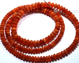 38.50 CTS -MEXICAN  FIRE OPAL BEADS STRAND FOB-2059