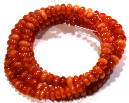 39.65CTS -MEXICAN  FIRE OPAL BEADS STRAND FOB-2061-fireopalbeads