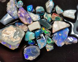 Rough Opal Lot 95.00 cts 27 pcs Black Opals Lightning Ridge BORB091219