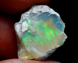 11.93Ct Multi Color Play Ethiopian Welo Opal Rough G1207