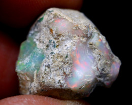 20.01Ct Multi Color Play Ethiopian Welo Opal Rough G1208