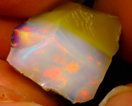 15.77Ct Multi Color Play Ethiopian Welo Opal Rough F1309