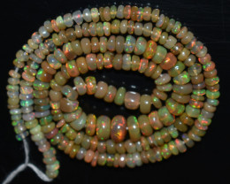31.85 Ct Natural Ethiopian Welo Opal Beads Play Of Color OB831