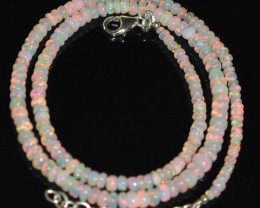 OPAL NECKLACE MADE WITH NATURAL ETHIOPIAN BEADS OBJ-4
