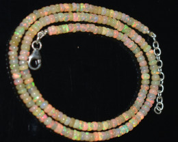 OPAL NECKLACE MADE WITH NATURAL ETHIOPIAN BEADS OBJ-5