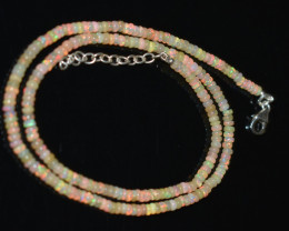 OPAL NECKLACE MADE WITH NATURAL ETHIOPIAN BEADS OBJ-8