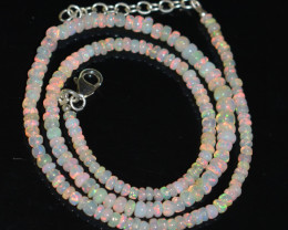OPAL NECKLACE MADE WITH NATURAL ETHIOPIAN BEADS OBJ-11