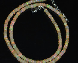 OPAL NECKLACE MADE WITH NATURAL ETHIOPIAN BEADS OBJ-12