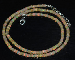OPAL NECKLACE MADE WITH NATURAL ETHIOPIAN BEADS OBJ-15
