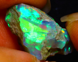 7.46Ct Multi Color Play Ethiopian Welo Opal Rough F1501