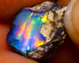 5.45Ct Multi Color Play Ethiopian Welo Opal Rough F1507