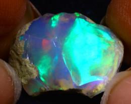 12.48Ct Multi Color Play Ethiopian Welo Opal Rough F1519